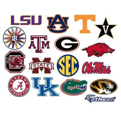 52 in. H x 39 in. W SEC Logo Collection Wall Mural