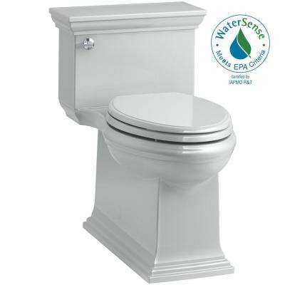 Memoirs Stately 1-Piece 1.28 GPF Single Flush Elongated Toilet in Ice Grey (Seat Included)