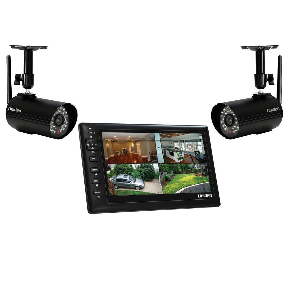 Uniden Wireless 480 TVL Indoor and Outdoor Portable Video Surveillance with 2 Outdoor Cameras