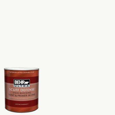 1 qt. Ultra Pure White Extra Durable Flat Interior Paint and Primer in One