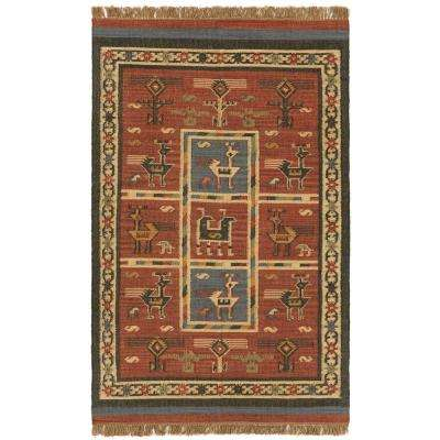 Brick Hacienda Wool & Jute 5 ft. x 8 ft. Area Rug