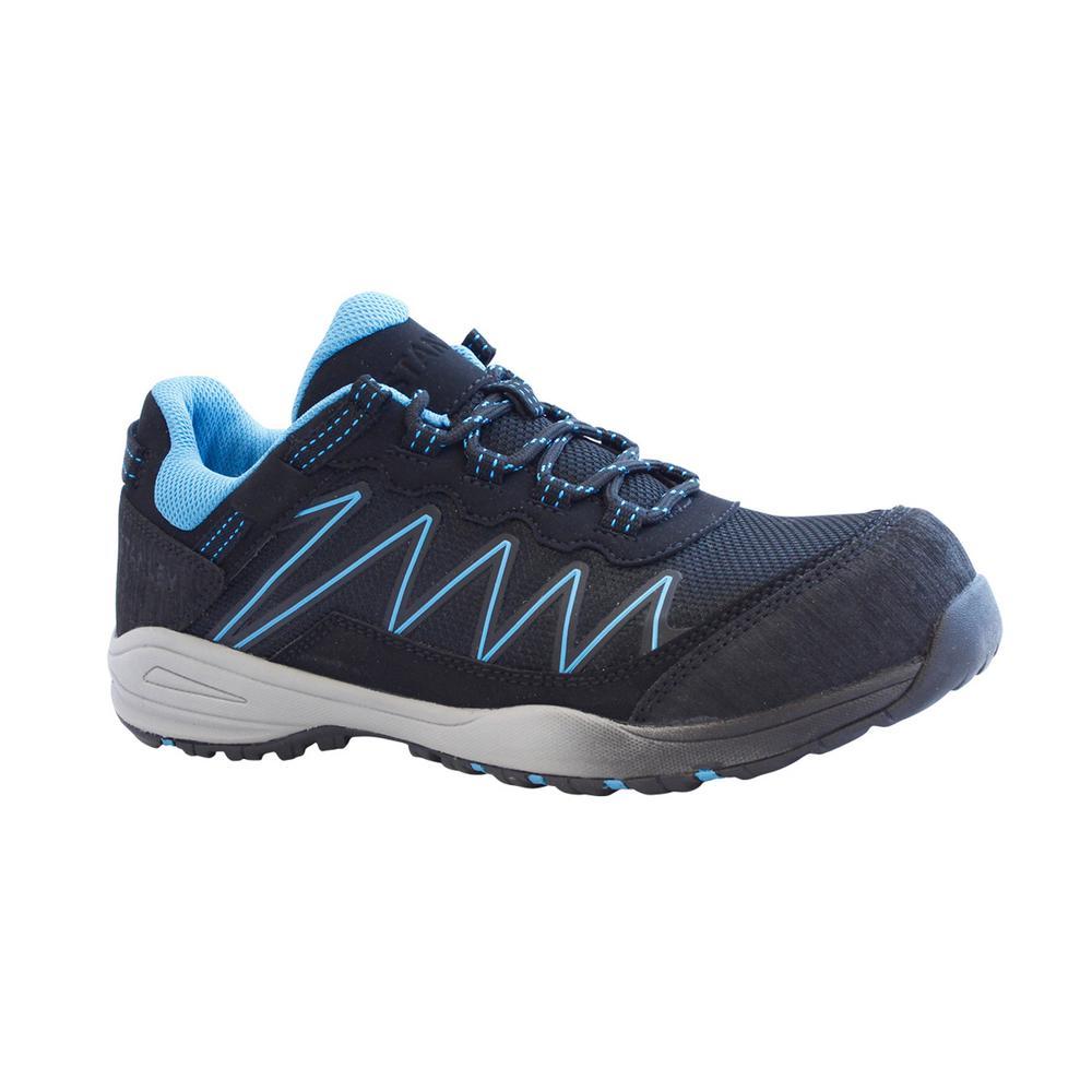 Breeze Low Women Size 8 Black Leather/Mesh Composite Toe Work Shoe