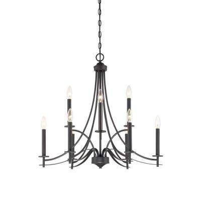 Cassina 9-Light Biscayne Bronze Chandelier