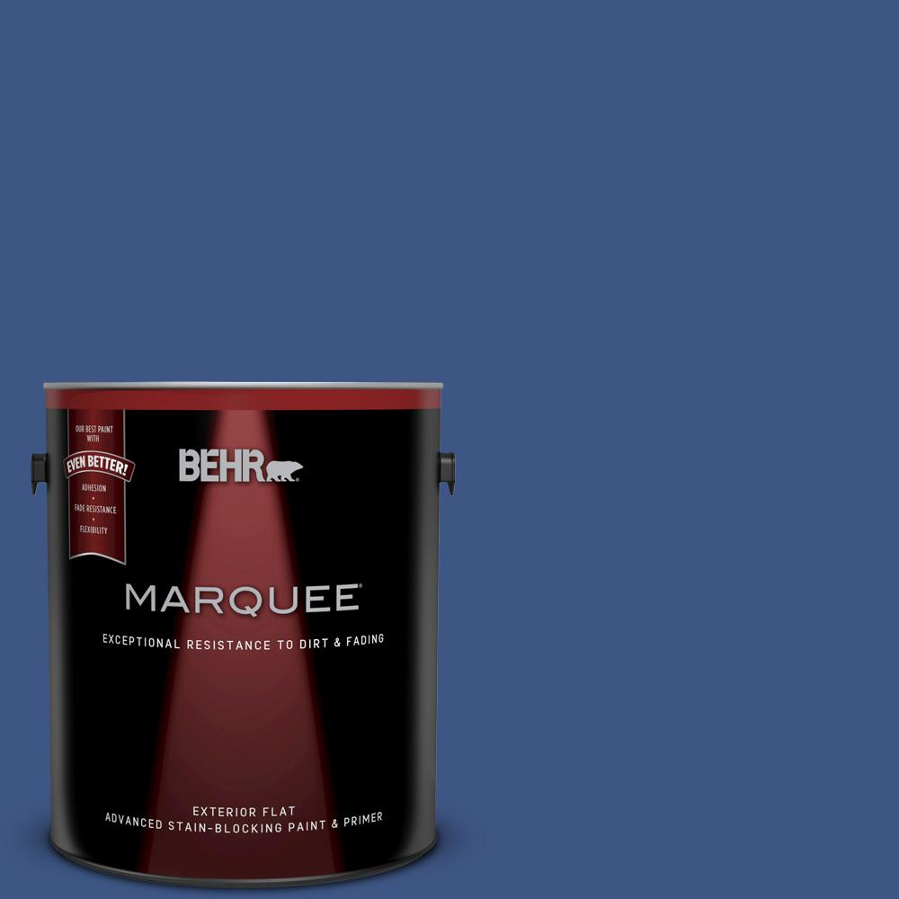 1 gal. #600B-7 Yacht Club Blue Flat Exterior Paint and Primer