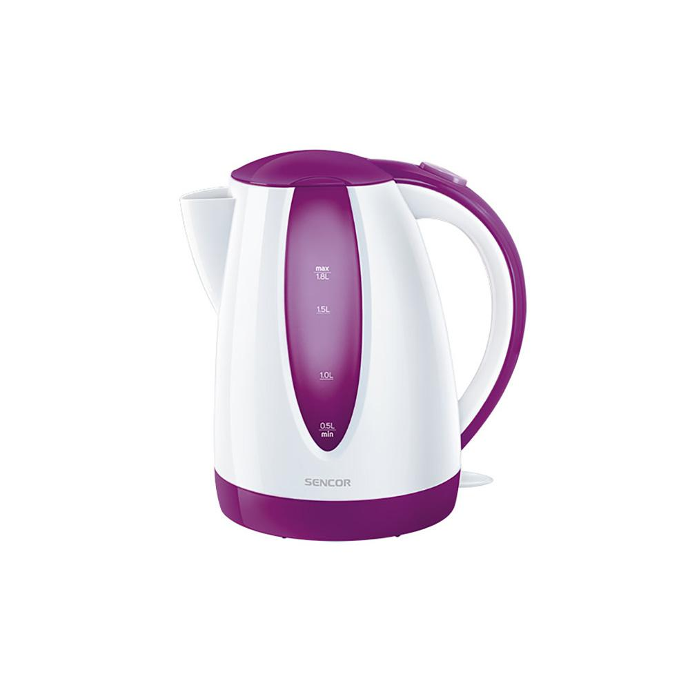Sencor 7.6-Cup Violet Cordless Electric Kettle with Automatic Shut Off, Purple Cordless electric kettles by Sencor heats water twice as fast as stove top, offering better speed, convenience, energy efficiency and safety This electric kettle comes with a 360° swivel and bright finish. Color-coordinate with other kitchen electrics by Sencor to create a beautiful kitchen with European design touch. Color: Violet.
