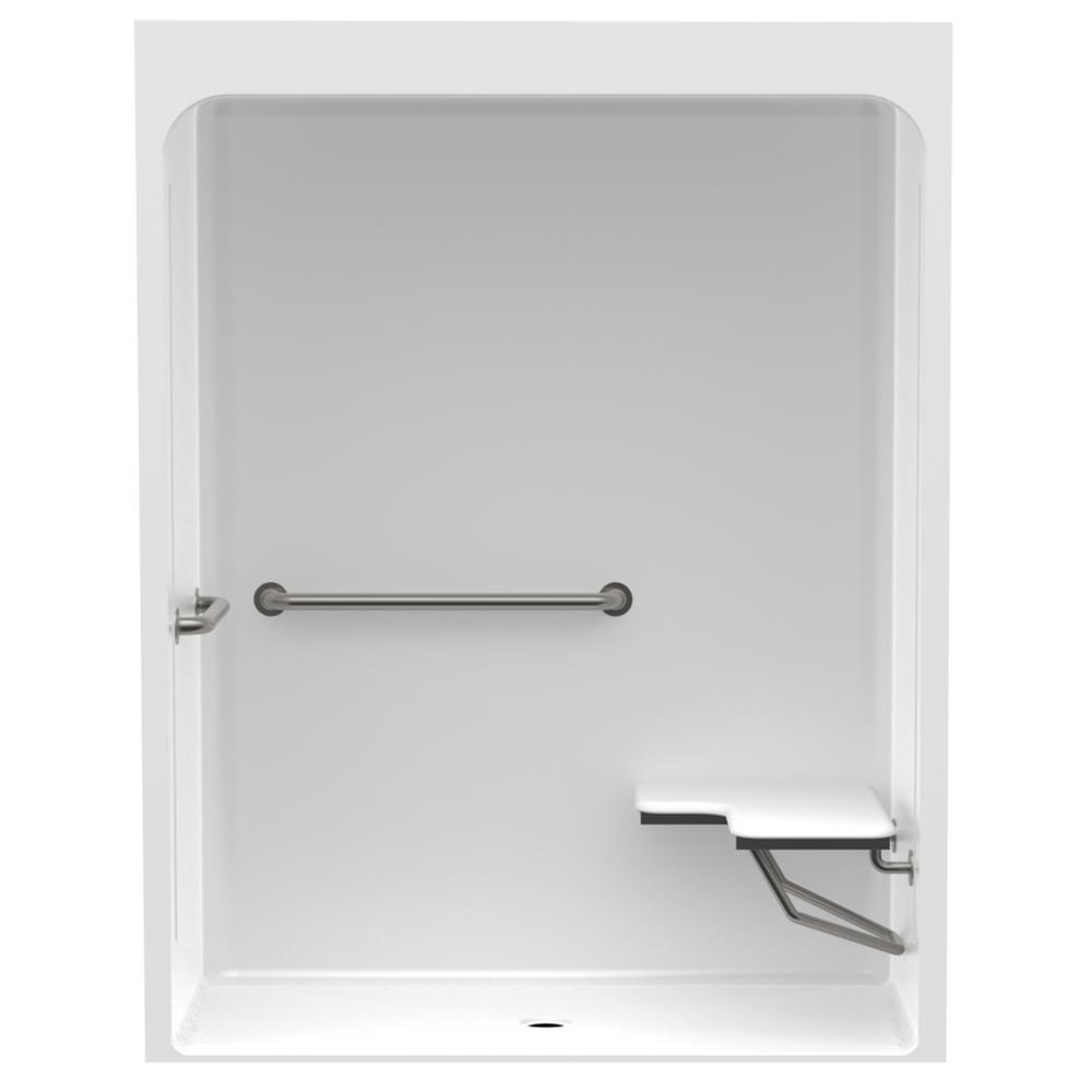 Accessible Acrylic 60 in. x 30 in. x 78.8 in. 1-Piece