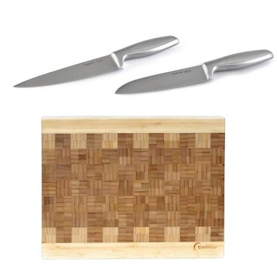Geminis 3-Piece Cutlery and Board Set