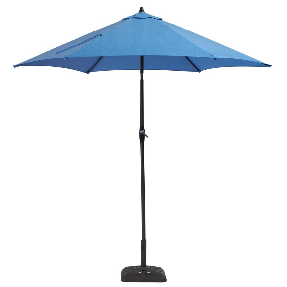 Delightful Aluminum Patio Umbrella In Periwinkle With Tilt