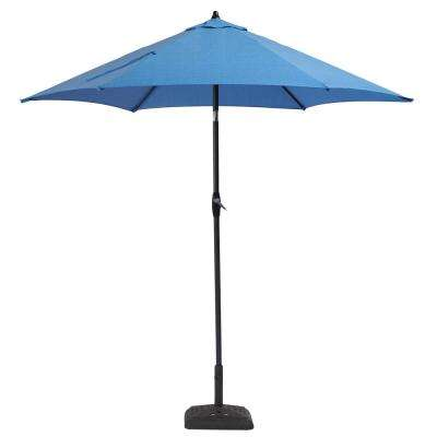 9 ft. Aluminum Patio Umbrella in Periwinkle with tilt