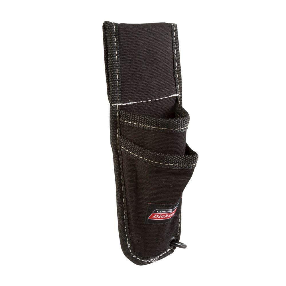 2-Pocket Utility Knife Sheath Tool Belt Pouch with Cut-Preventive Lining, Black