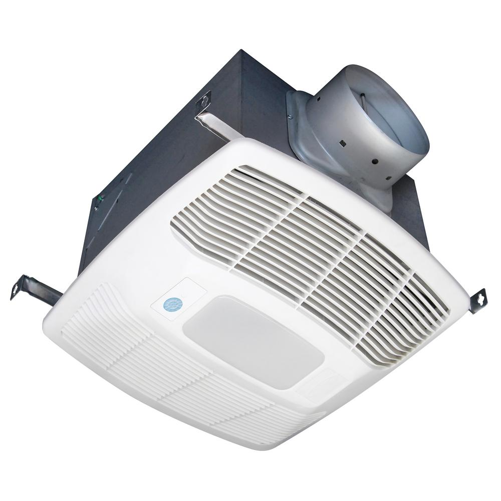 White 150 CFM Single Speed, Motion Sensing 0.6 Sone Ceiling Exhaust