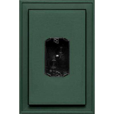 8.125 in. x 12 in. #028 Forest Green Jumbo Electrical Mounting Block Centered