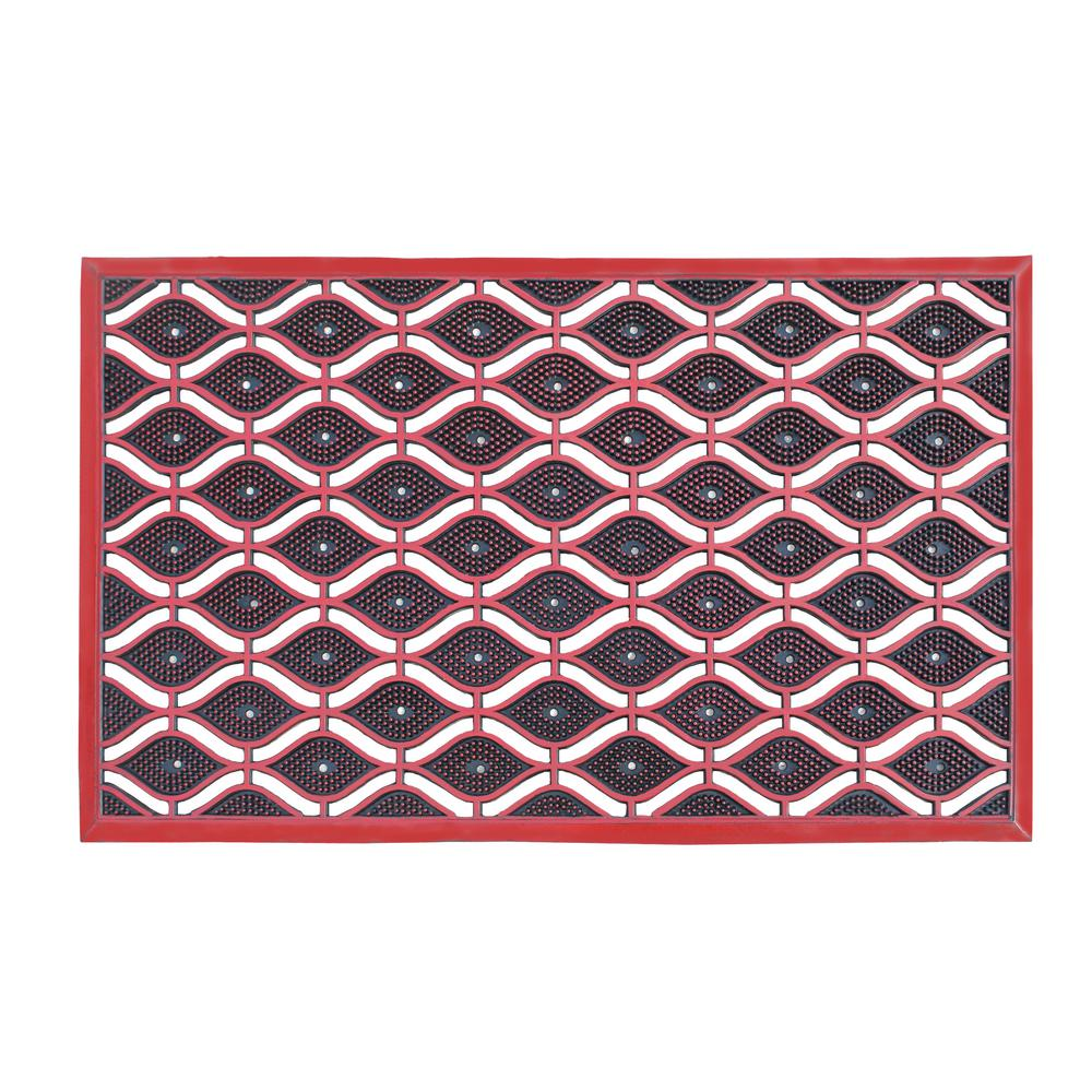 A1hc Eye Heavy Duty 22 In X 36 In High Dirt Trapper Red Door Mat A1hclh07 Red The