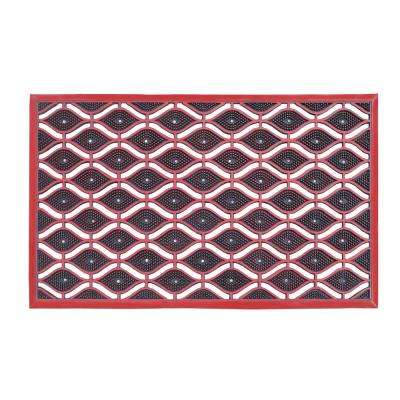 A1HC Eye Heavy Duty 22 in. x 36 in. High Dirt Trapper Red Door Mat