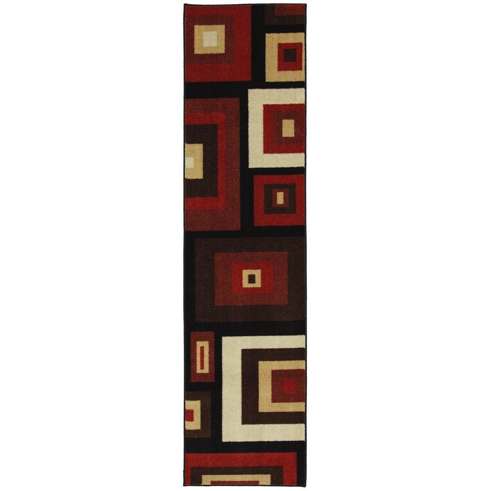 null Russell Red 2 ft x 8 ft Runner-DISCONTINUED