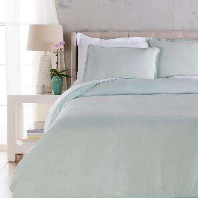 Ellenora Ice Blue Full/Queen Duvet Set