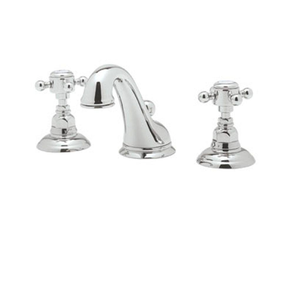 Exceptional Rohl Viaggio 8 In. Widespread 2 Handle Bathroom Faucet In Polished Chrome