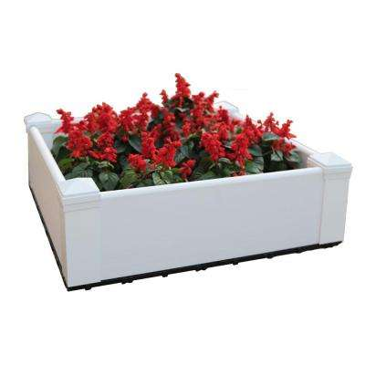 28.8 in. x 28.8 in. Square Hyams White Composite Lumber Patio Raised Garden Bed Kit