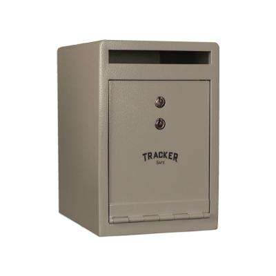 0.46 cu. ft. Steel Deposit Safe with Key Lock, White
