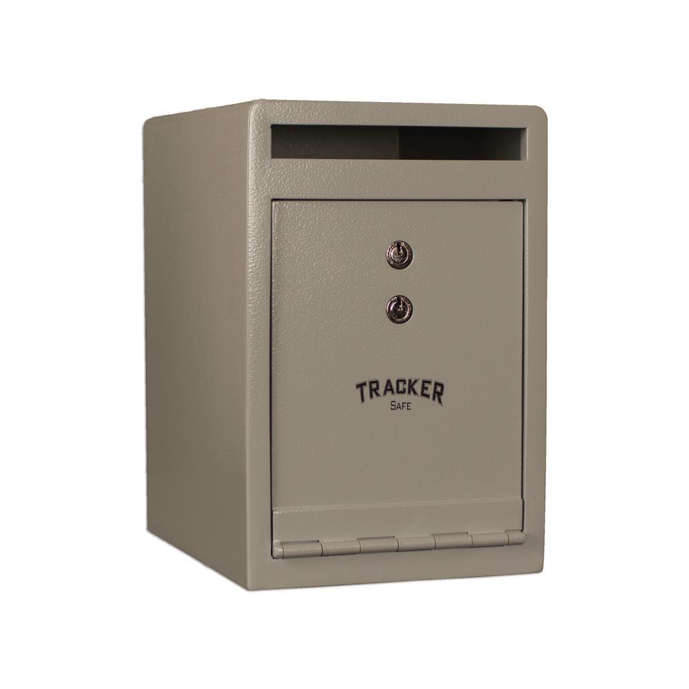 0.46 cu. ft. Steel Deposit Safe with Key Lock, White