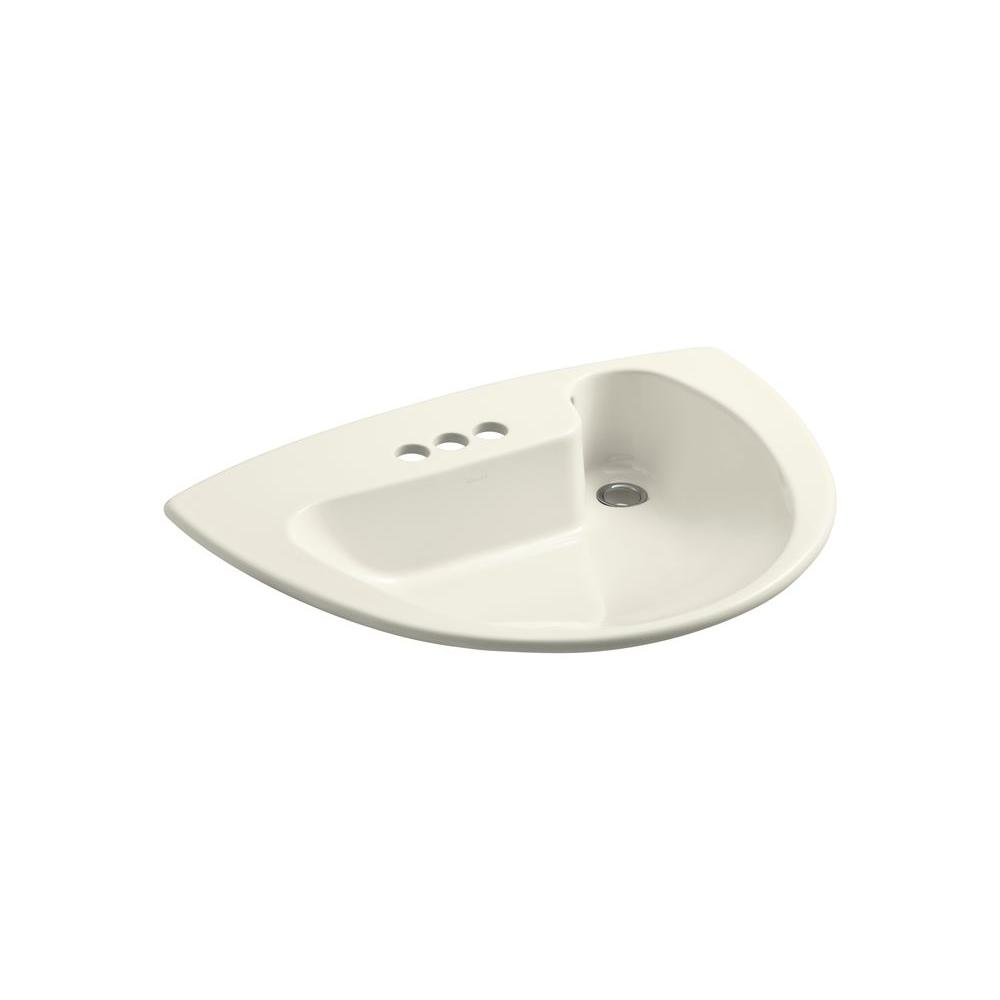 Beau KOHLER Invitation Drop In Vitreous China Bathroom Sink In Biscuit