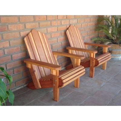 Outdoor Super Deck Finished Redwood Adirondack Chair