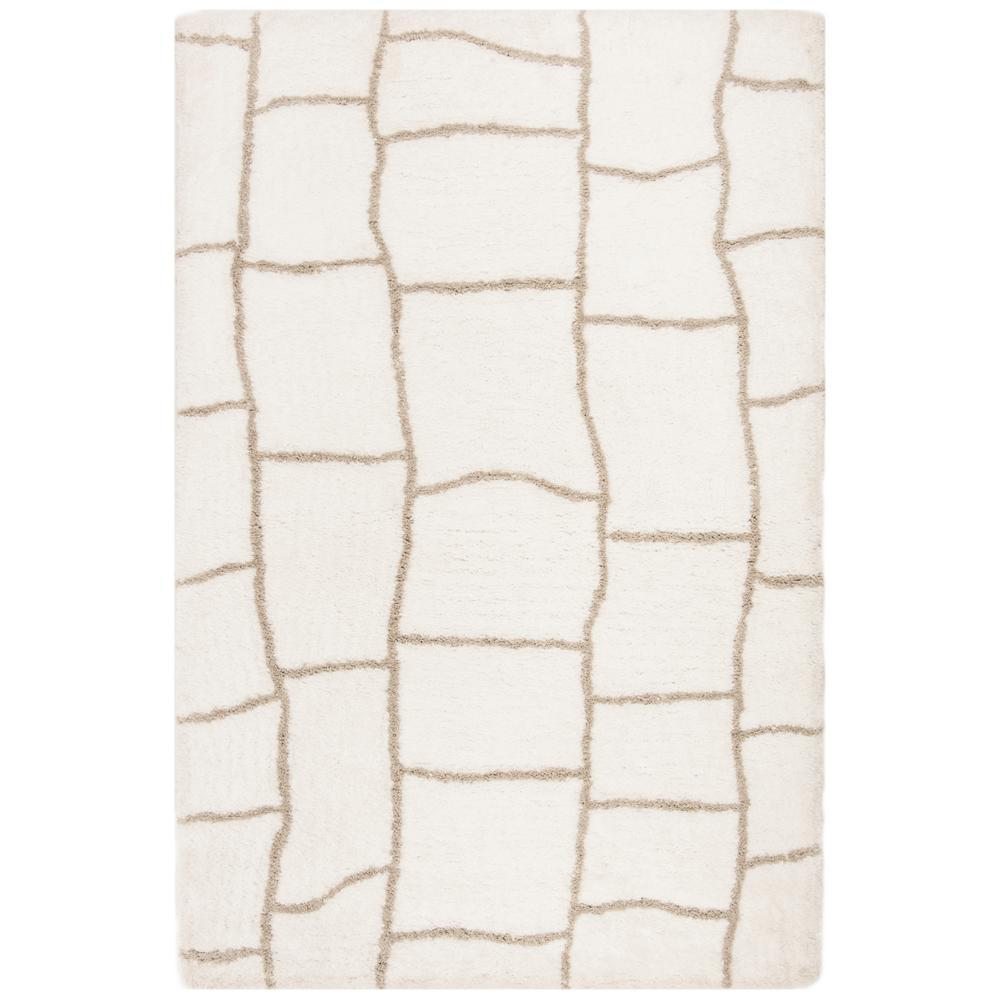 geometric motif area rug