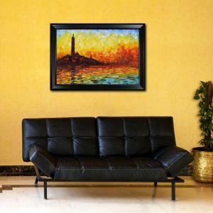 24 inch x 36 inch San Giorgio Maggiore by Twilight Hand-Painted Classic Artwork by