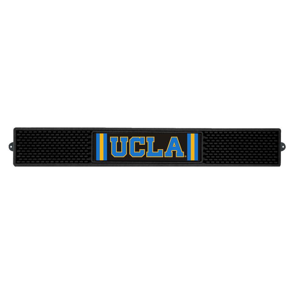 NCAA- 3.25 in. x 24 in. Black University of California Los Angeles (UCLA) Drink Mat