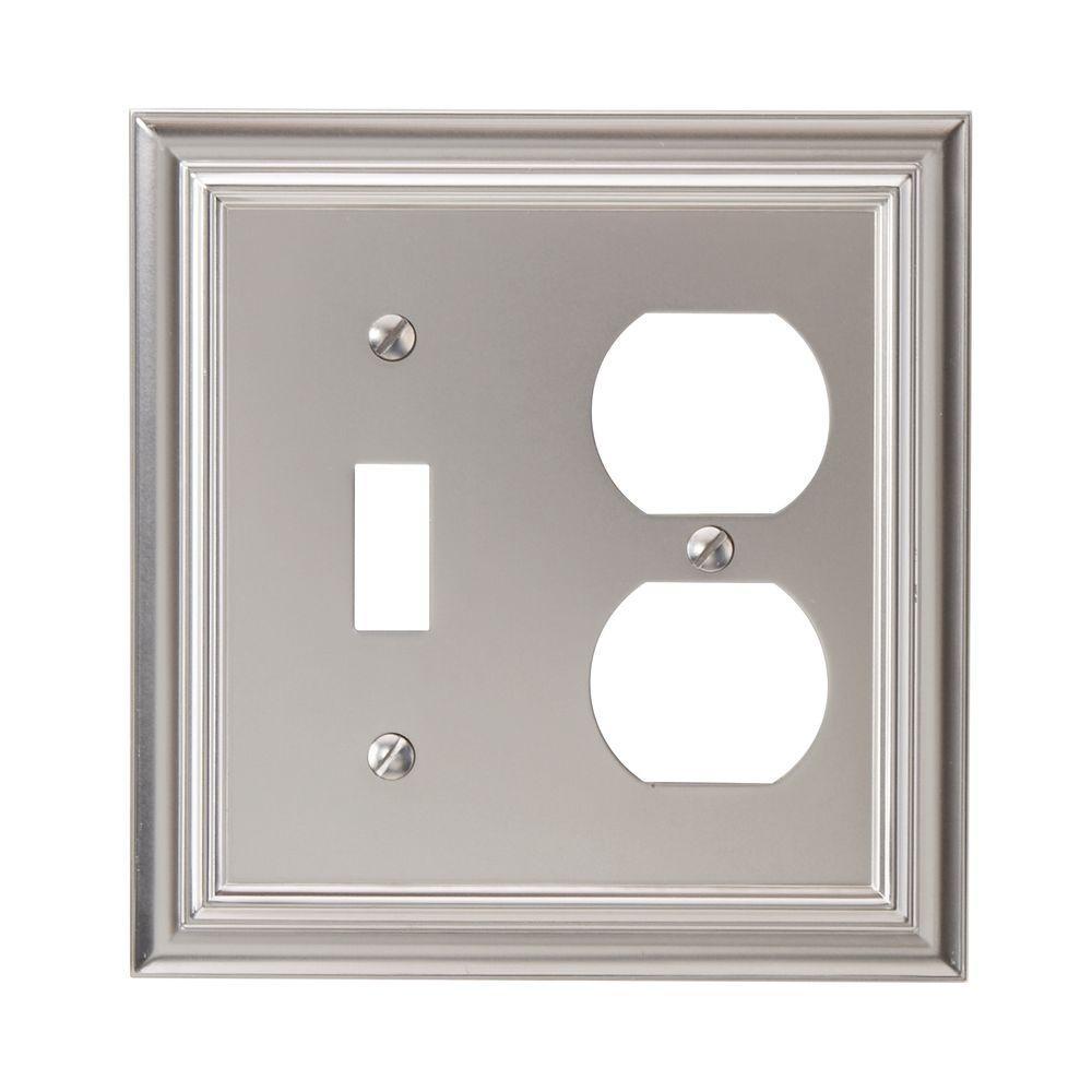 Continental 1 Toggle 1 Duplex Wall Plate - Nickel
