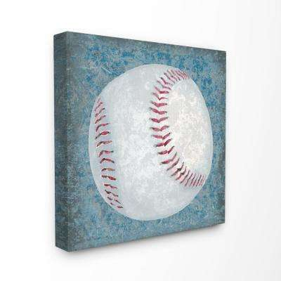 "30 in. x 30 in. ""Grunge Sports Equipment Baseball"" by Studio W Printed Canvas Wall Art"