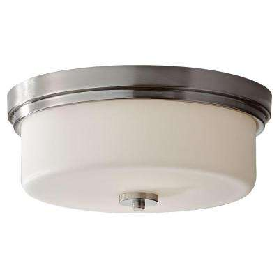 Kincaid 2-Light Brushed Steel Indoor Flushmount