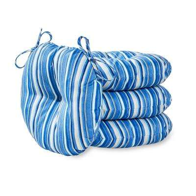 Round Striped Blue Outdoor Cushions Patio Furniture The