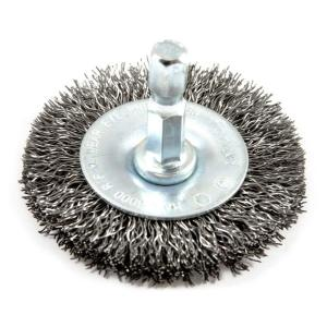 Forney 72726 Wire Wheel Brush Fine Crimped with 1//4-Inch Hex Shank 1-1//2-Inch