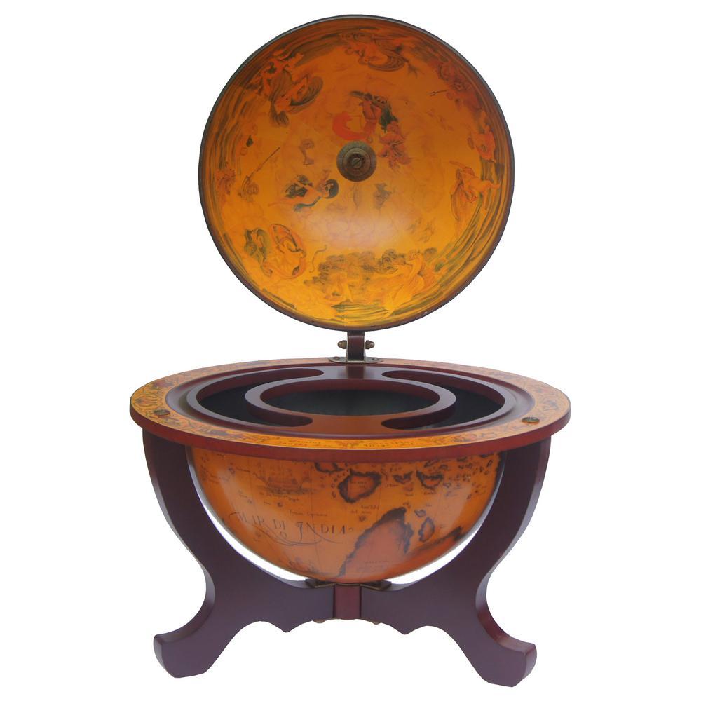 Matera 13 in. Bar Globe, Antique Oceans