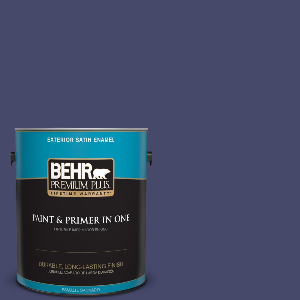 1 gal. #PPU15-01 Nobility Blue Satin Enamel Exterior Paint