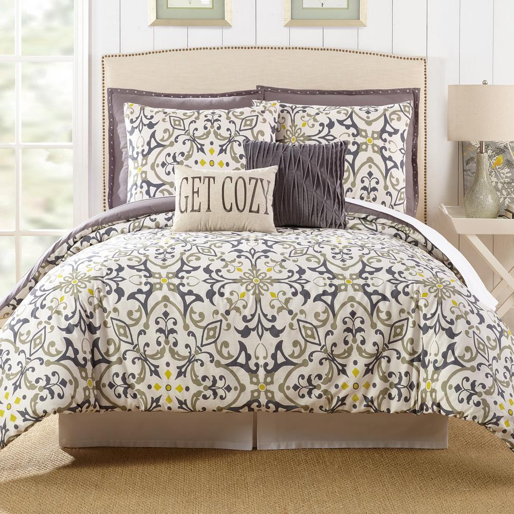 Madrid 7-Piece Multicolored King Comforter Set