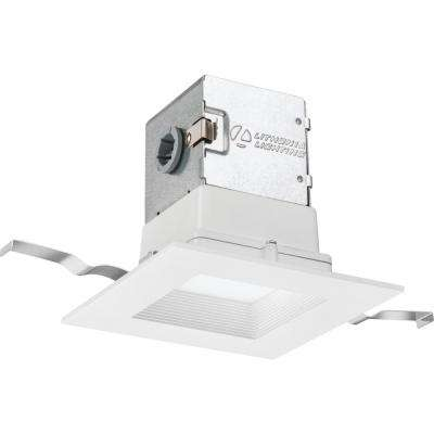 Lithonia OneUp Square 4 in. White Integrated LED Recessed Kit
