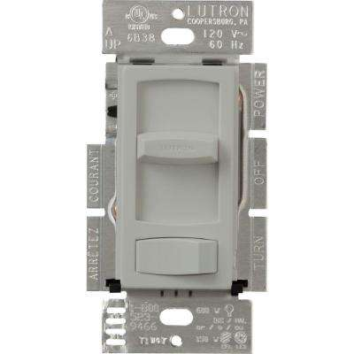 Skylark Contour C.L Dimmer Switch for Dimmable LED, Halogen and Incandescent Bulbs, Single-Pole or 3-Way, Gray