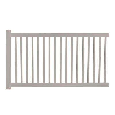 Phoenix 4 ft. H x 8 ft. W Tan Vinyl Pool Fence Panel EZ Pack