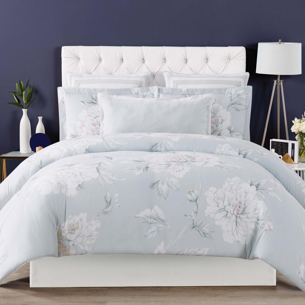 Stem Floral King Comforter with 2-Shams