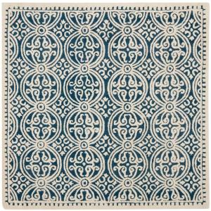 Safavieh Cambridge Navy Blue/Ivory 8 ft. x 8 ft. Square Area Rug by Safavieh