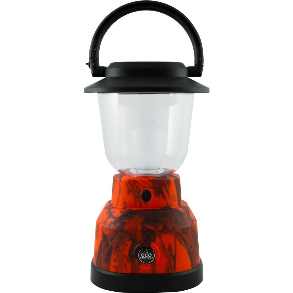 Battery Operated LED Orange Camoflage Lantern
