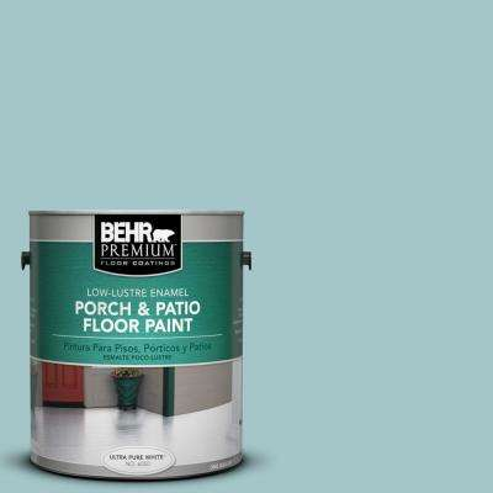 1 gal. #PPU13-10 Ocean Boulevard Low-Lustre Interior/Exterior Porch and Patio Floor Paint