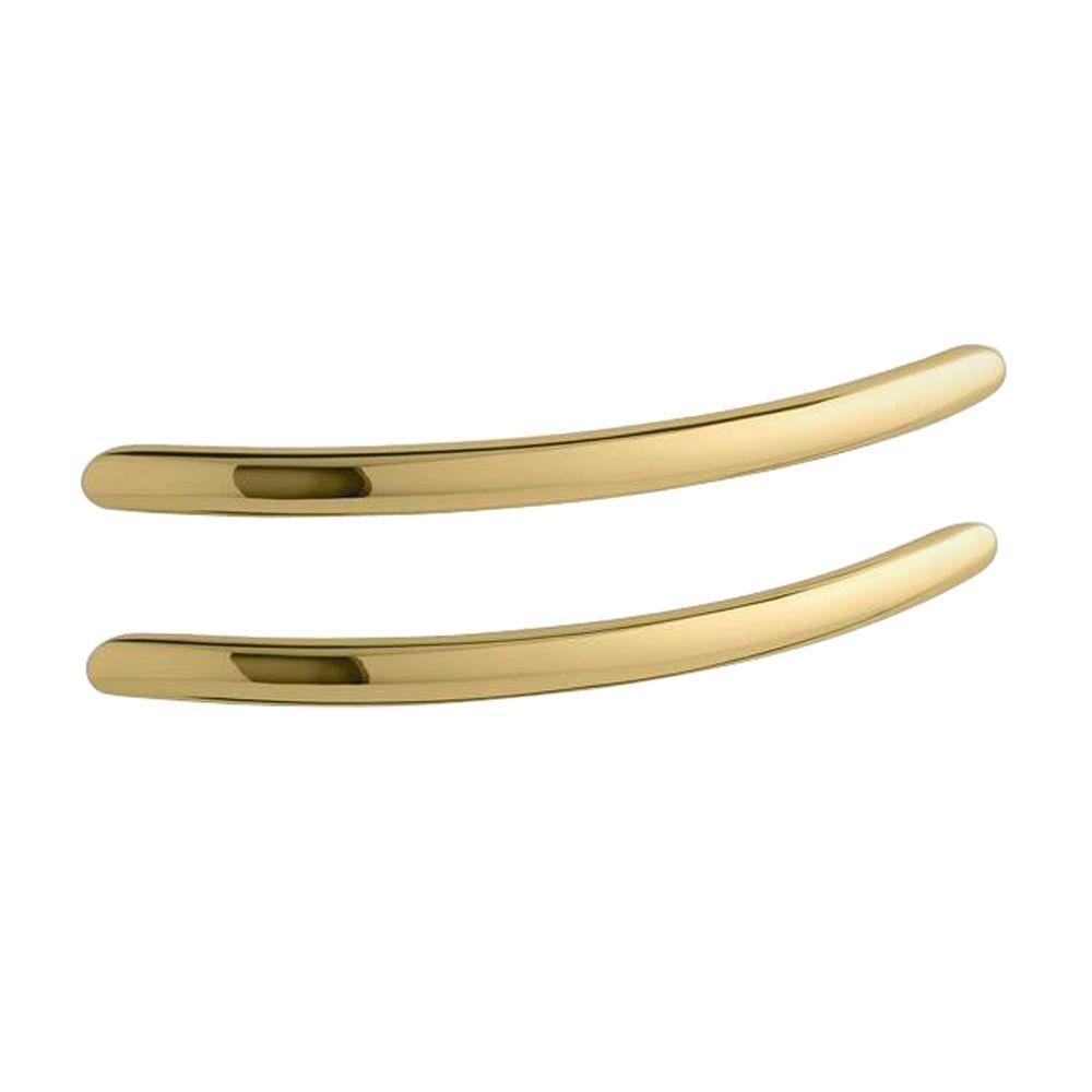 KOHLER Riverbath 20-19/32 in. x 3 in. Concealed Screw Grab Bars in Vibrant Polished Brass-DISCONTINUED