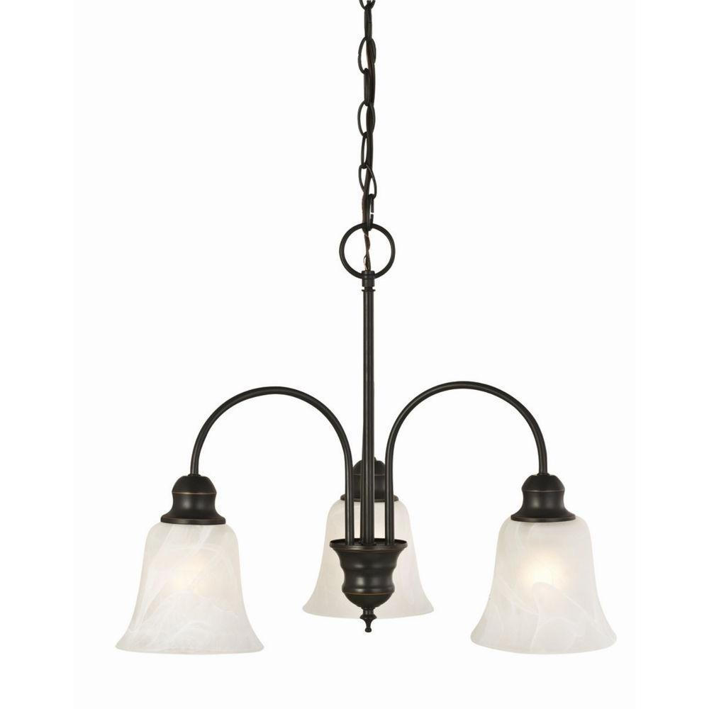 Design House Ridgeway 3-Light Oil Rubbed Bronze Chandelier
