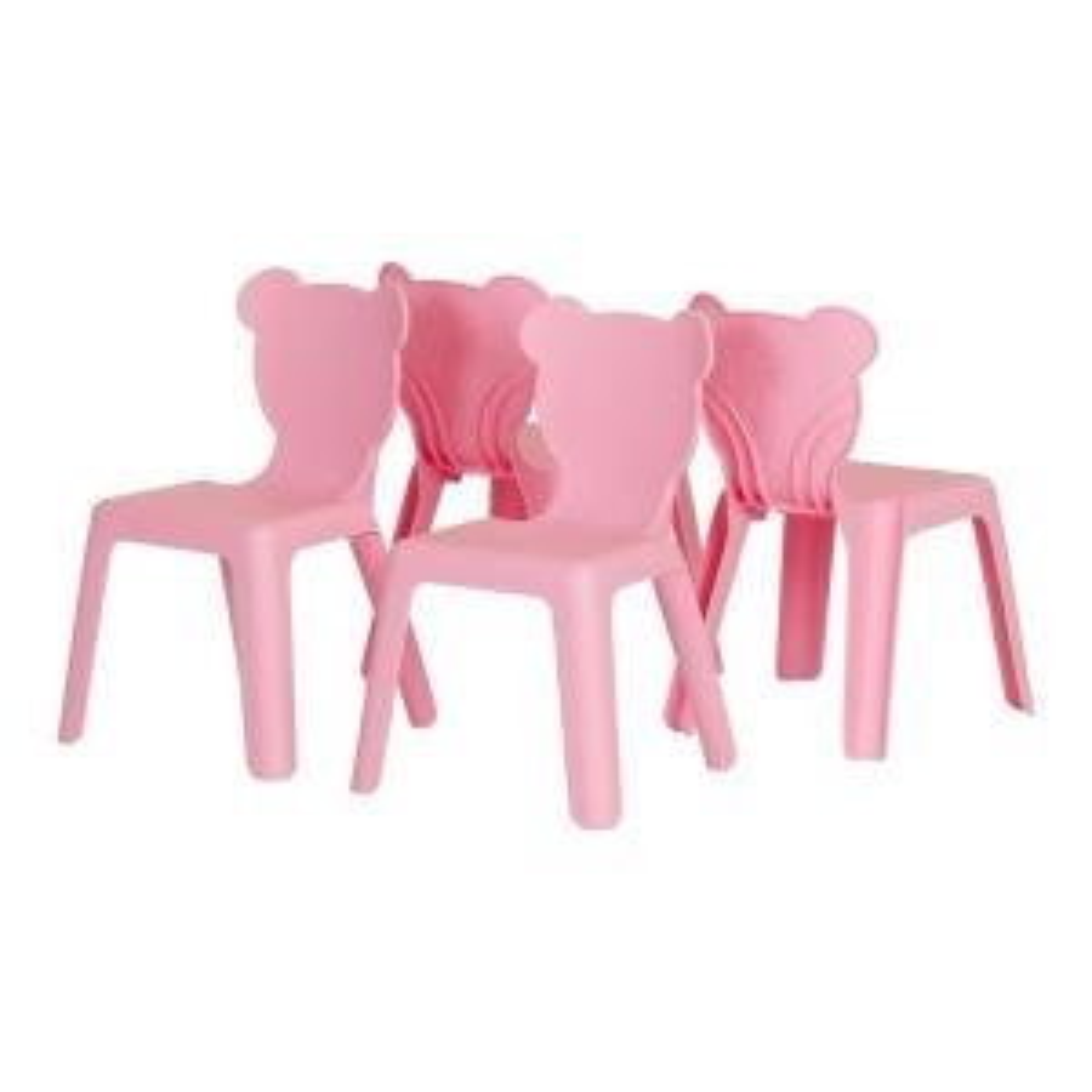 Fantastic South Shore Crea Pink Plastic Stacking Kids Chair Set Of 4 Dailytribune Chair Design For Home Dailytribuneorg