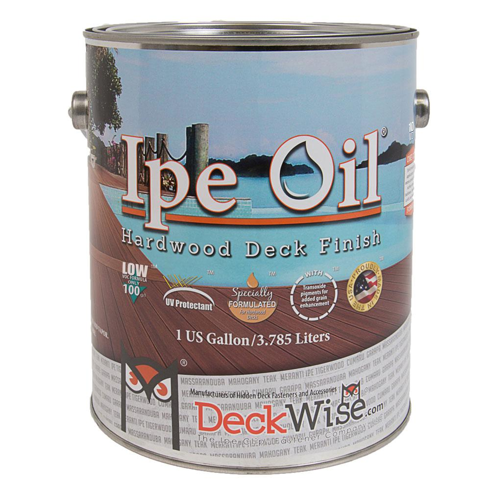 DeckWise Ipe Oil 100 VOC Hardwood Finish 1 gal. Natural Wood Semi Transparent Exterior Waterproofing Deck, Fence and Siding Stain