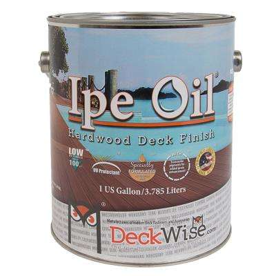 Ipe Oil 100 VOC Hardwood Finish 1 gal. Natural Wood Semi Transparent Exterior Waterproofing Deck, Fence and Siding Stain