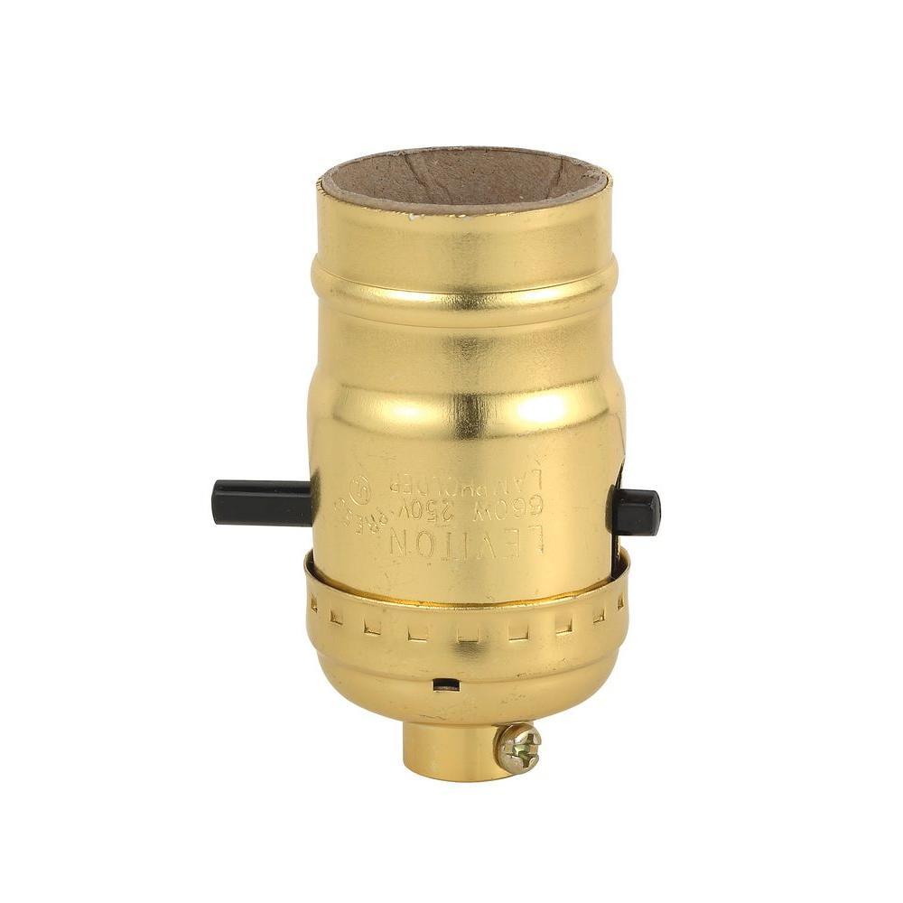 Leviton Push Button Socket Lamp Holder R50 06098 0pg The Home Depot